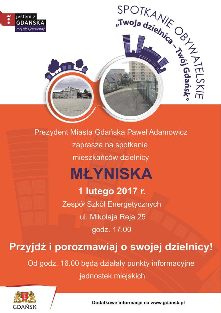Plakat - spotkanie Młyniska