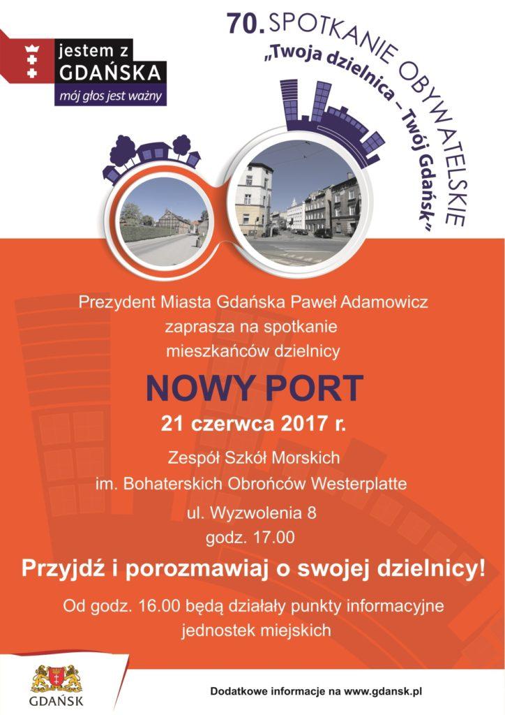 Spotkanie prezydenta z mieszkańcami Nowego Portu