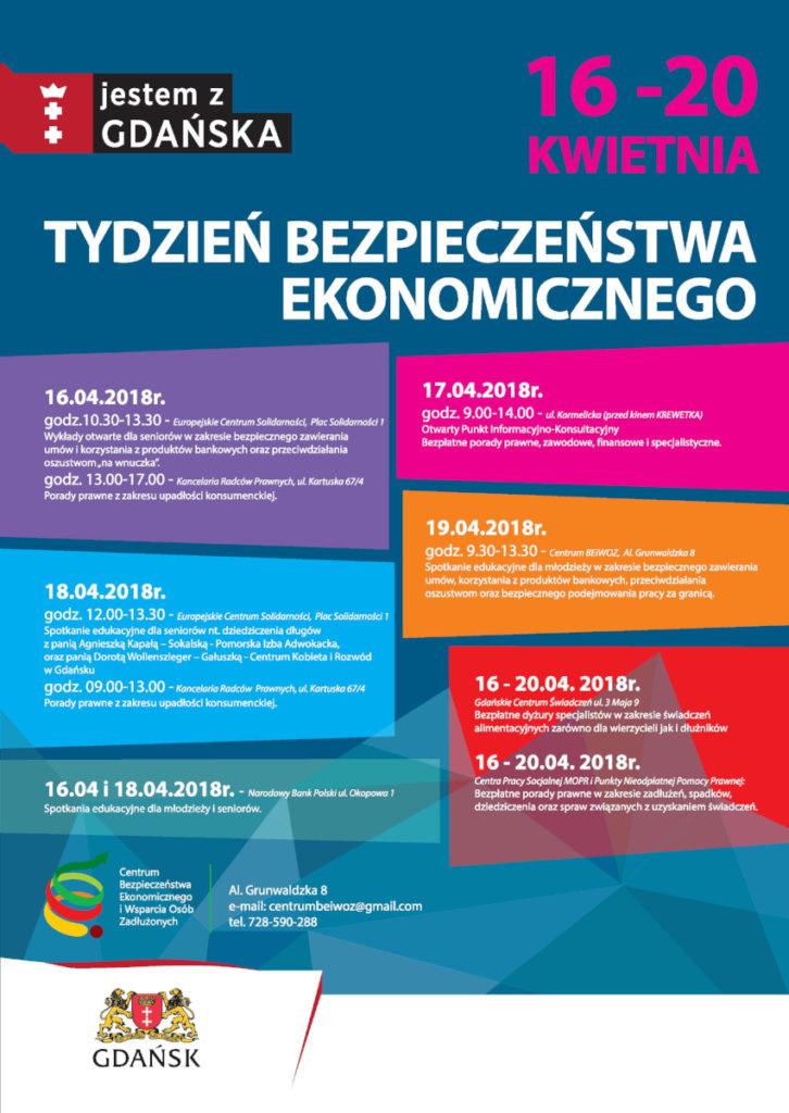 Plakat informujący o Tygodniu Bezpieczeństwa Ekonomicznego