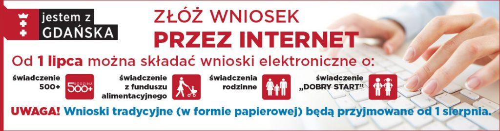 Banner informujący o naborze wniosków on-line na nowy okres świadczeniowy