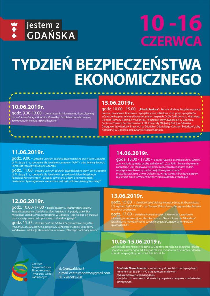 Plakat promujący Tydzień Bezpieczeństwa Ekonomicznego