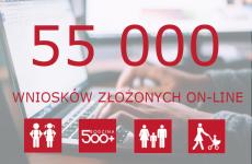 Więcej o: Ponad 55 tysięcy wniosków o świadczenia w dwa tygodnie!