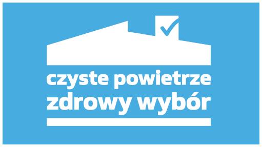 Banner z logotypem programu czyste powietrze przekierowujący do opisu procedury w Biuletynie Informacji Publicznej